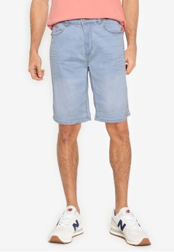 Springfield blue Light Wash Denim Shorts 46F76AAFCDF69EGS_1