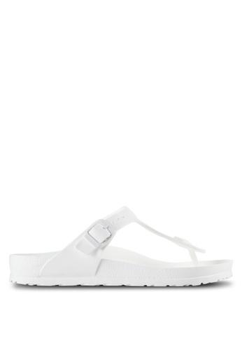 Birkenstock white Gizeh EVA Sandals BI090SH99JPGMY_1