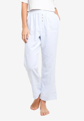 Cotton On Body white and blue Warm Flannel Sleep Pant E3A22AAF13CC16GS_1