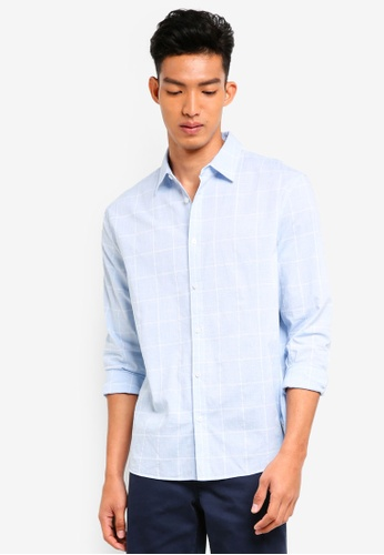 Jack Wills blue Jaywick Dobby Shirt 80DDFAA60DC623GS_1