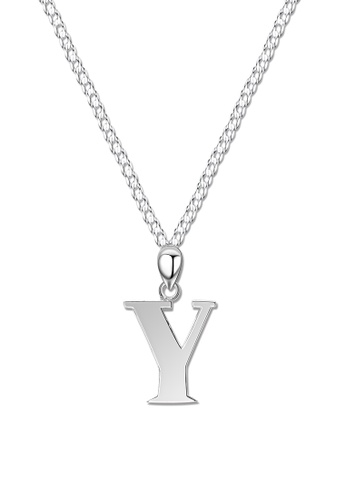 SC Tom Silver silver Letter Pendant with Chain SC872AC0J8MSPH_1