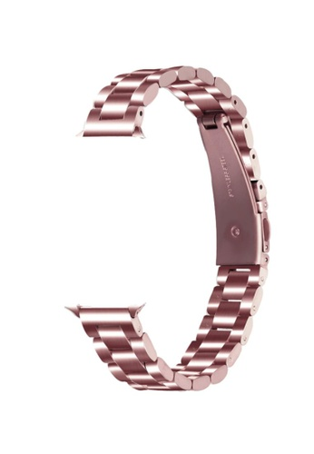 Kings Collection Rose Pink Slim Stainless Steel Apple Watch Band 38MM/40MM (KCWATCH1075) 3B1BAAC6771EA8GS_1
