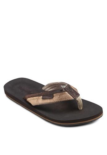 仿舊布料夾腳涼鞋esprit 衣服, 鞋, 鞋