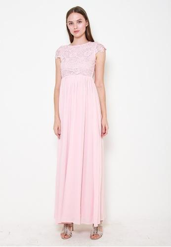 Leline Style pink Myla Crotchet Maxi Dress 289E7AAE78319EGS_1