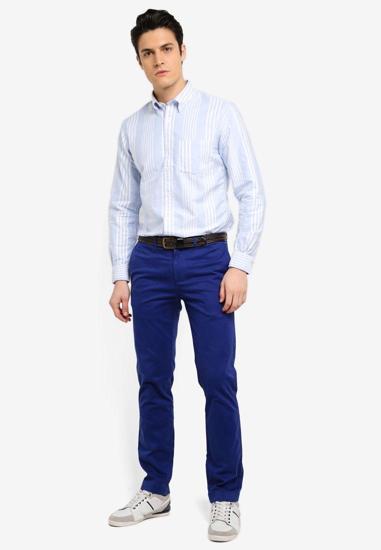 Fleece Light Bluestripe Red Brothers Feb Blue Pastel Shirt Yarn Brooks Awning Ox AOW6qW7dg