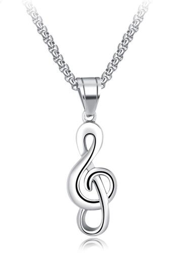 Trendyshop silver Pendant Necklace C5BA7AC5B1B1C1GS_1