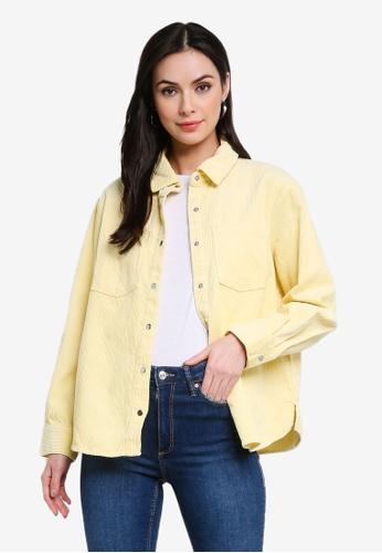 H&M yellow Corduroy Shirt 3EECCAA645814EGS_1