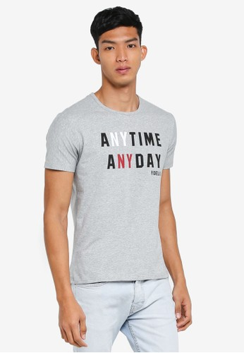 Fidelio grey Anytime Anyday Printed Tee A7D34AAA78C33BGS_1