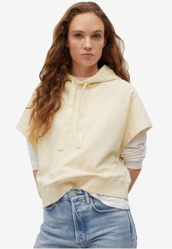 Mango beige Hoodie Cotton Sweatshirt 38CA5AA64AF4B5GS_1