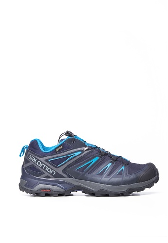 Salomon blue Salomon X Ultra 3 GTX Men GY/Night Sky/Hawaii 1EBEFSHD2F4E67GS_1