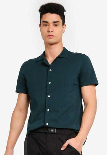 SPARROW GREEN green Bowie Cuban Shirt B774FAA369E9DEGS_1