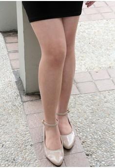 Vanilla Twist Gum Ball Pointed Shoes