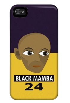 Black Mamba Matte Hard Case for iPhone 4, 4s