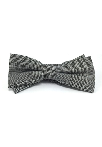 Splice Cufflinks Lucid Series Grey Patterned Polyester Fabric Bow Tie SP744AC86QQFSG_1