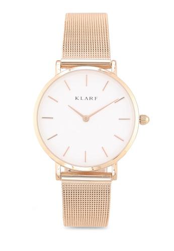 Klarf gold Petite Watch With Mesh Bracelet 48224AC408547AGS_1