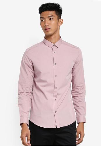 River Island pink Woven Long Sleeve Shirt D9D57AAEF7CCE9GS_1