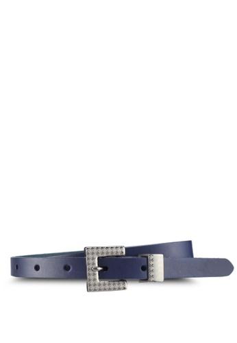 ESPRIT navy Narrow Leather Belt 3E123AC6B11B45GS_1