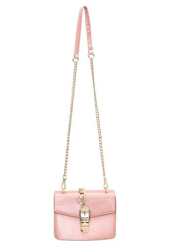 Hamlin pink Hamlin Werlyn Tas Selempang Wanita dengan Pita Bowknot Messenger Bag Vintage Design Material PU Leather ORIGINAL C020EAC22DA44DGS_1