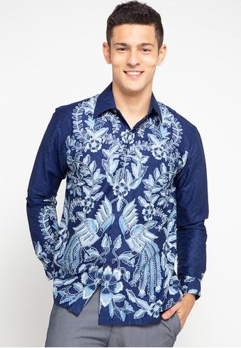 Rianty Batik blue Kemeja Ezra 54633AA2E1B717GS_1