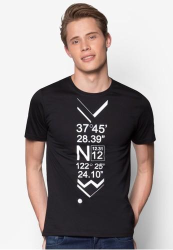 坐標地圖設計TEE, 服飾, 印圖esprit outlet 台灣T恤