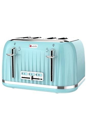 Odette blue Jukebox Series 4-Slice Bread Toaster (Mint) 7D51CHL8979070GS_1