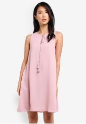 ZALORA pink Sleeveless Tassel Detail Dress BFBF3AA585AA29GS_1
