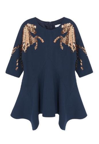 Chloé blue Chloé Elegant Dress with French Braid Embroidery 57153KA6E999C9GS_1