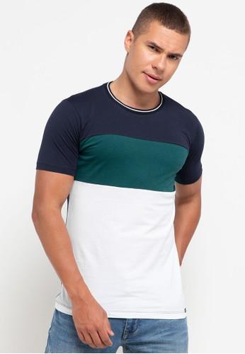 Cressida green Color Block T-Shirts 17BAAAA429C818GS_1