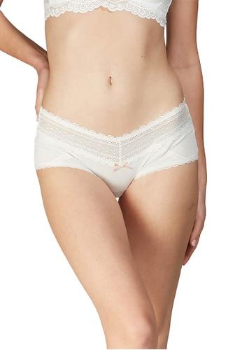 6IXTY8IGHT white OBI SOLID, Modal Shorty Panty PT10189 CC1EAUS7165D16GS_1
