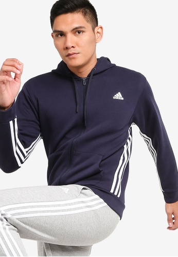 ADIDAS navy adidas performance Must Haves 3-stripes Hoodie 5B6D9AAD0C3204GS_1