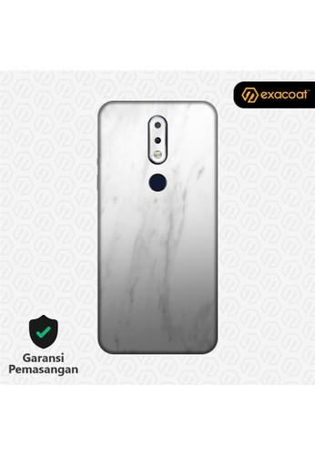 Exacoat Nokia 6.1 Plus 3M Skins Marble White - Cut Only 47707ES074DD98GS_1