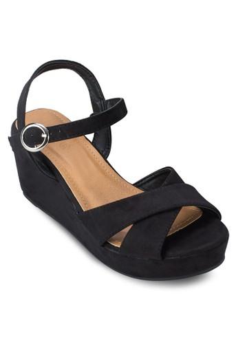 Dreamtime 交叉繞踝厚底涼鞋esprit台灣outlet, 女鞋, 鞋