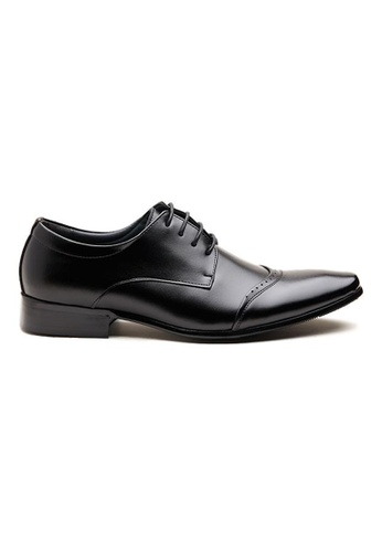 Kings Collection black Patricio Leather Shoes 3F9B0SH81761D2GS_1