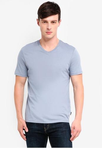 Burton Menswear London 灰色 Grey Sky V-Neck T-Shirt D8336AAB2246E5GS_1
