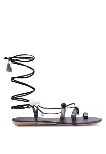 Sulima black Tiara Sandals SU915SH60VPJMY_1
