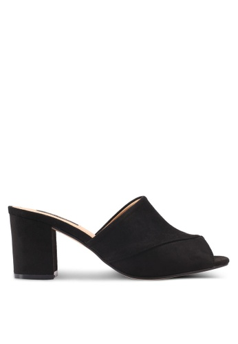ZALORA black V-Upper Slip On Heels 994ACSH989F61CGS_1