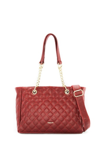 SEMBONIA red Genuine Leather Crossbody Bag (Red) SE598AC0SS2GMY_1