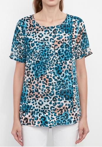 Dkny white DKNY Women Mixed Media Colourblock Top 86F89AA67DFB56GS_1