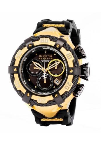 INVICTA gold Invicta Bolt Men 54.5mm Case Gold, Black Stainless Steel, Silicone Strap Black Dial Quartz Watch 21367 IN968AC0F5CGSG_1