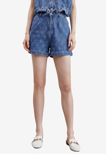 Urban Revivo blue Casual Denim Shorts D89BAAA36B822BGS_1