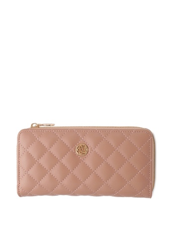 Wild Channel pink Faux Leather Long Wallet 4EEC0AC3584413GS_1