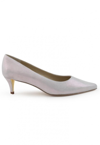 Shu Talk purple Metallic Sheepskin Suede Pointed Toe Low Heels SH617SH2UXH6HK_1
