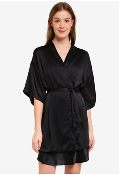 Cotton On Body black Kimono Gown 08341AA8B671EEGS 1 517c2009e