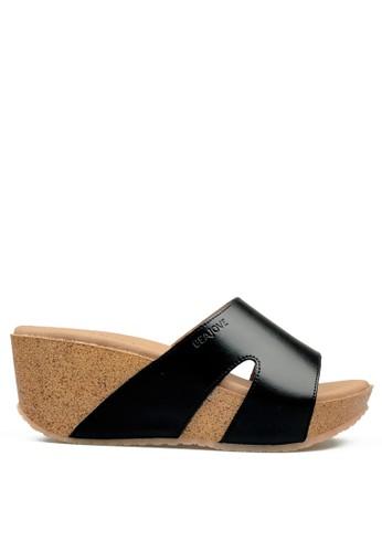 Beajove black Sally Wedges Sandals BE707SH23UQMID_1