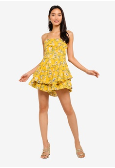 5ed52790c4 30% OFF INDIKAH Tiered Ruffle Hem Floral Playsuit HK  619.00 NOW HK  432.90  Sizes 6 8 10 12