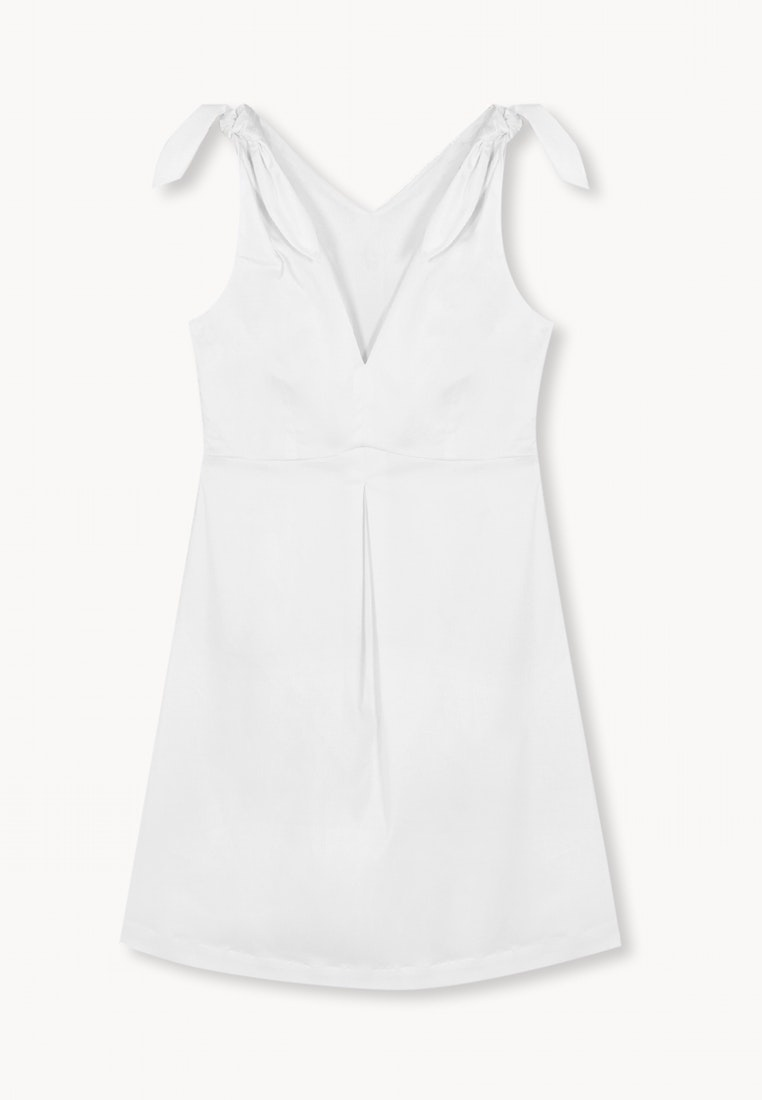 Line Pomelo Mini Dress White Tie Bow A dwqX0pd
