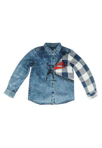 Desigual blue Graphic Denim Shirt C1515KA39FC9AEGS_1