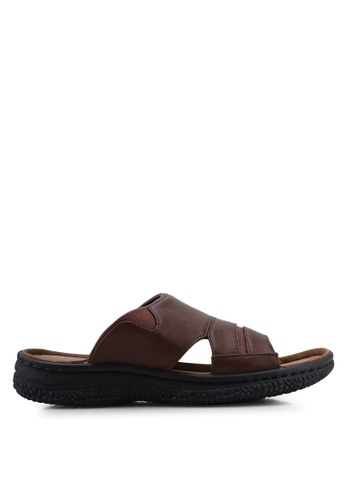 Bata brown Slip On Sandals E3812SHE540327GS_1