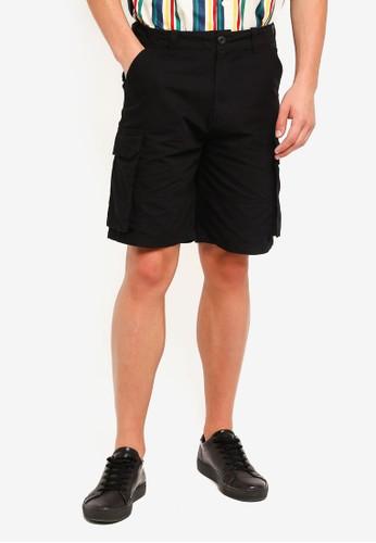 Factorie black Cargo Shorts 9EECDAA251E585GS_1