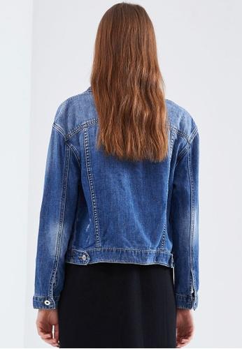 f5ff687090 Buy Hopeshow Faded Denim Jacket Online
